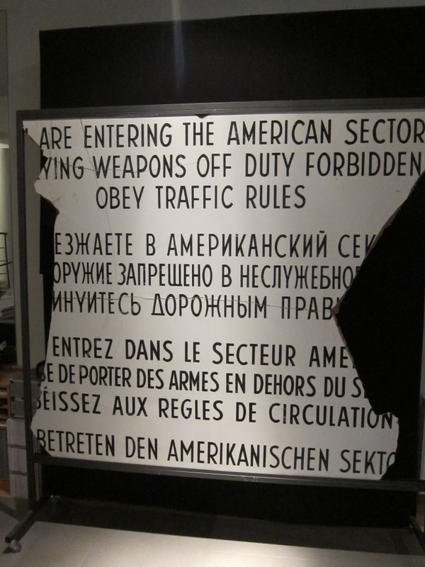Leaving the American Sector Sign